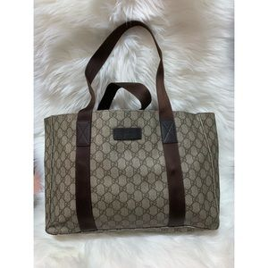 💯 Authentic GUCCI PVC Leather Medium Tote 141624